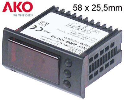 θερμόμετρο AKO  τύπος AKO-13012  μετρήσεις στερέωσης 58x25,5 mm 12V τάση AC/DC