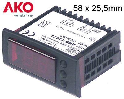 θερμόμετρο AKO  τύπος AKO-13023  μετρήσεις στερέωσης 58x25,5 mm 230V τάση AC