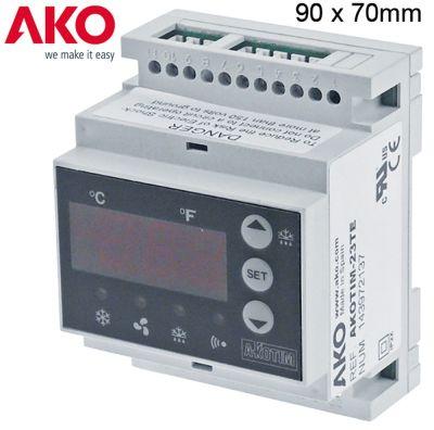 ηλεκτρονικός ελεγκτής AKO  τύπος AKOTIM-23TE  μετρήσεις στερέωσης 90x70x58 mm 230V τάση AC  NTC