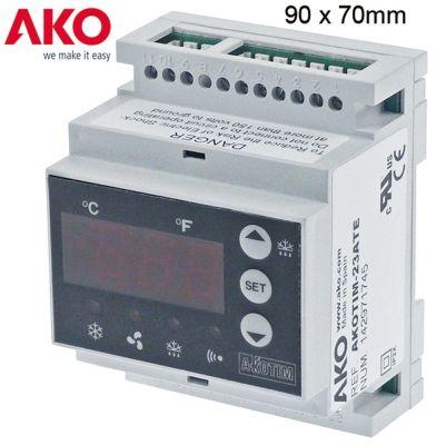 ηλεκτρονικός ελεγκτής AKO  τύπος AKOTIM-23ATE  μετρήσεις στερέωσης 90x70x58 mm 230V τάση AC  NTC