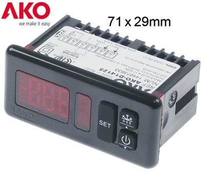 ηλεκτρονικός ελεγκτής AKO  τύπος D14125  μετρήσεις στερέωσης 71x29 mm 230V τάση AC