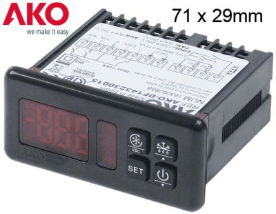 ηλεκτρονικός ελεγκτής AKO  τύπος AKO-D14323  μετρήσεις στερέωσης 71x29 mm 230V τάση AC