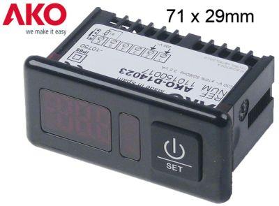 θερμόμετρο AKO  τύπος AKO-D14023  μετρήσεις στερέωσης 71x29 mm 230V τάση AC