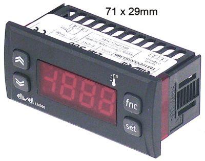 θερμόμετρο ELIWELL  τύπος EM300  μετρήσεις στερέωσης 71x29 mm 12V τάση AC/DC