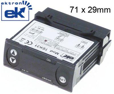 ηλεκτρονικός ελεγκτής EKTRON  τύπος TEK31-0010  μετρήσεις στερέωσης 71x29 mm 12V τάση AC/DC  PTC