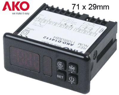 ηλεκτρονικός ελεγκτής AKO  τύπος AKO-D14112  μετρήσεις στερέωσης 71x29 mm 12/24V τάση AC/DC