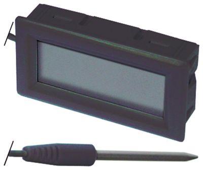θερμόμετρο μετρήσεις στερέωσης 51,5x24,5 mm μετρήσεις πρόσοψης 53x28 mm διαμ. μπαταρίας πίσω