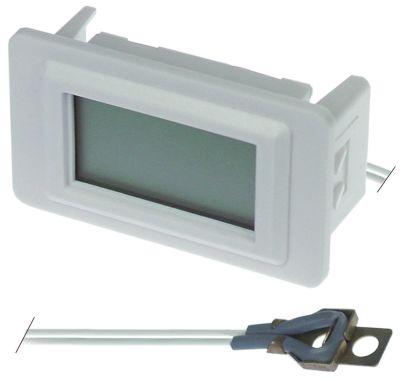 θερμόμετρο μετρήσεις στερέωσης 58x25,5 mm μετρήσεις πρόσοψης 62x36 mm διαμ. μπαταρίας πίσω