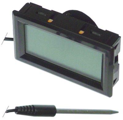 θερμόμετρο μετρήσεις στερέωσης 59x33 mm μετρήσεις πρόσοψης 62x36 mm διαμ. μπαταρίας πίσω