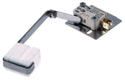 φλοτέρ 1CO  Μ 90mm ø διάταξης στερέωσης  -mm 250V 3A αρσενικό εξάρτημα 6,3mm μήκος καλωδίου  -mm