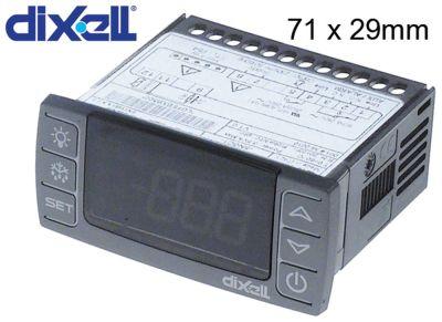 ηλεκτρονικός ελεγκτής DIXELL  XR30CX-5N0C1 μετρήσεις στερέωσης 71x29 mm 230V τάση AC