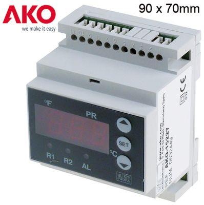 ηλεκτρονικός ελεγκτής AKO  τύπος AKO-15227 μετρήσεις στερέωσης 90x70x58 mm 24V τάση AC/DC