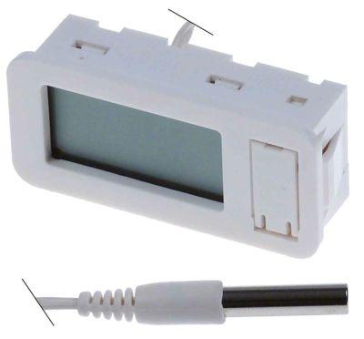 θερμόμετρο μετρήσεις στερέωσης 58x25,5 mm μετρήσεις πρόσοψης 29x62 mm διαμ. μπαταρίας εμπρός