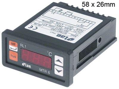 ηλεκτρονικός ελεγκτής LAE  τύπος MTR6T1RD  μετρήσεις στερέωσης 58x26 mm 12V τάση AC/DC  PTC