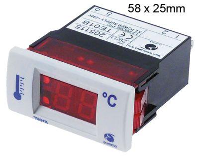 θερμόμετρο EUREMA  τύπος TE01  μετρήσεις στερέωσης 58x25 mm 230V τάση AC