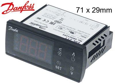 ηλεκτρονικός ελεγκτής DANFOSS  τύπος ERC211  μετρήσεις στερέωσης 71x29 mm 230V τάση AC