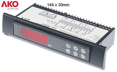ηλεκτρονικός ελεγκτής AKO  τύπος 10323 μετρήσεις στερέωσης 149x30 mm 230V τάση AC  NTC