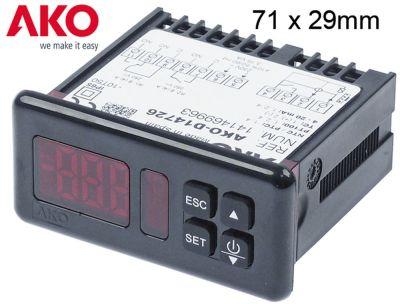 ηλεκτρονικός ελεγκτής AKO  τύπος AKO-D14726 μετρήσεις στερέωσης 71x29 mm 230V τάση AC