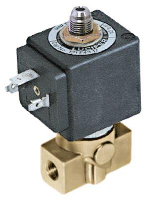 ηλεκτρομαγνητική βαλβίδα 3-οδοί 230VAC  σύνδεσμος 1/8″  DN 2,5mm υποδοχή ολίσθησης DIN
