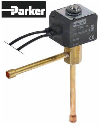 ηλεκτρομαγνητική βαλβίδα 230V σύνδεσμος ένωση με συγκόλληση 6mm PARKER  ψύξη