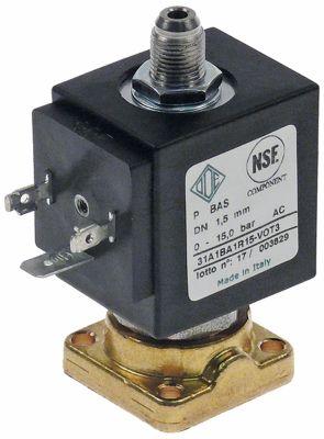 ηλεκτρομαγνητική βαλβίδα ορείχαλκος 3-οδοί 24VAC  DN 1,5mm -10 έως 140°C ODE  τύπος σειράς 31A1
