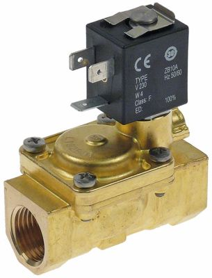 solenoid valve brass 2-ways 230VAC inlet 1/2