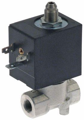 ηλεκτρομαγνητική βαλβίδα 3-οδοί 230V  σύνδεσμος 1/8″  Μ 41mm -10 έως 140°C Olab