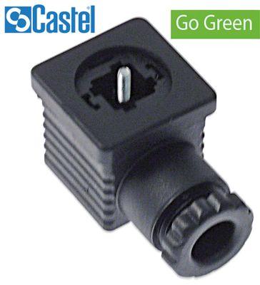 πρίζα τύπος βύσματος DIN 43650A  βίδα CASTEL  σειρά GO GREEN  9150/R02