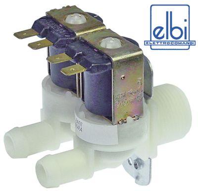 ηλεκτρομαγνητική βαλβίδα διπλό ευθύ 230VAC  είσοδος 3/4