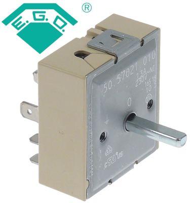 ζημενστάτης 230V 13A μονού κυκλώματος κατεύθυνση περιστροφής δεξιά ø άξονα 6x4,6 mm