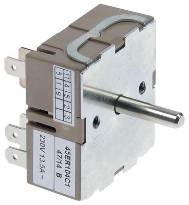 ζημενστάτης 230V 13,5A κατεύθυνση περιστροφής δεξιά ø άξονα 6x4,6 mm