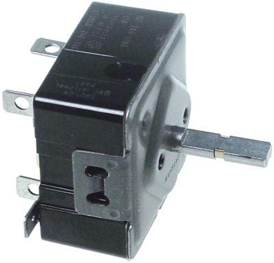 ζημενστάτης 240V 15A κατεύθυνση περιστροφής αριστερά ø άξονα 6x4,6 mm