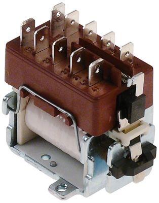 μικροδιακόπτης ρελέ 230V κύριες επαφές 2NO/2NC  σύνδεσμος αρσενικό εξάρτημα 6,3mm ωμικό φορτίο 16A