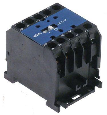 ρελέ επαφής AC1 20A 230VAC  AC15 4A επαφές 3NO/1NC  σύνδεσμος βιδωτή σύνδεση