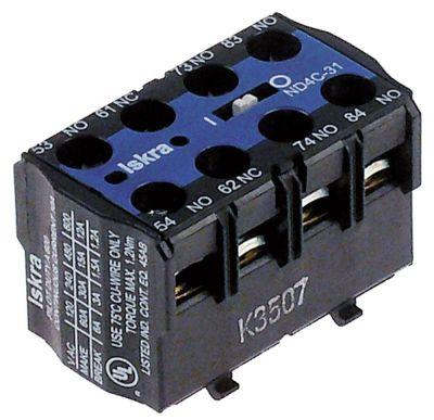 ρελέ επαφές 2NO/2NC  AC15 6A για επαφείς K03C/K07C  σύνδεσμος βιδωτή σύνδεση