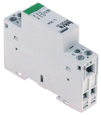 ρελέ εγκατάστασης 230V ωμικό φορτίο 20A (AC3/400V) 1,5kW κύριες επαφές 2NO  AC-1 4kW
