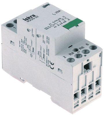 ρελέ εγκατάστασης 230V ωμικό φορτίο 25A (AC3/400V) 2,2kW κύριες επαφές 4NO  AC-1 16kW