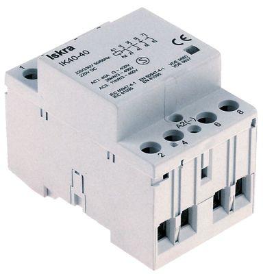 ρελέ εγκατάστασης 230V ωμικό φορτίο 40A (AC3/400V) 5,5kW κύριες επαφές 4NO  AC1 40A