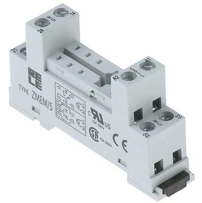 υποδοχή ρελέ διαστάσεις 62x36x15 mm 250V τάση AC  10A Italiana Relè  αρ. κατασκευαστή ZMEM/5