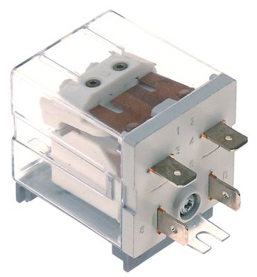 ρελέ ισχύος FINDER  230VAC  30A 1NO  σύνδεσμος αρσενικό εξάρτημα 6,3mm ράγα DIN