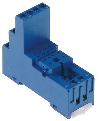 υποδοχή ρελέ 4-πόλοι διαστάσεις 76.2x27x86.1mm 250V τάση AC  1A FINDER  αρ. κατασκευαστή 94.94.3