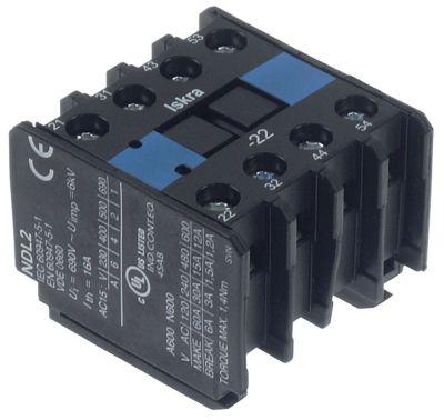 ρελέ επαφές 2NO/2NC  AC15 6A για επαφείς KNL9/KN16  σύνδεσμος βιδωτή σύνδεση