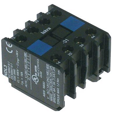 ρελέ επαφές 2NO/2NC  AC15 6A για επαφείς KNL22/KNL30  σύνδεσμος βιδωτή σύνδεση