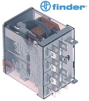 ρελέ ισχύος FINDER  230VAC  12A 4CO  σύνδεσμος F4,8  μέγεθος ράστερ 10mm