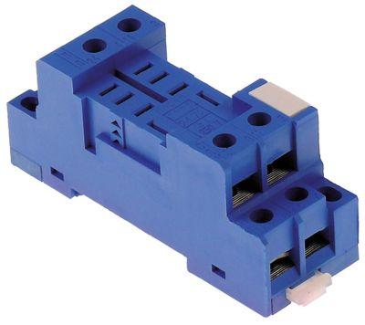 υποδοχή ρελέ διαστάσεις 78x27x33,5 mm 250V τάση AC  10A FINDER  αρ. κατασκευαστή 96.72