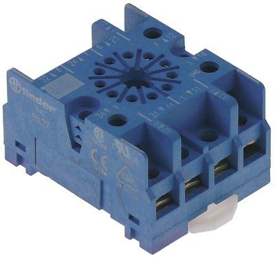υποδοχή ρελέ 11-πόλοι διαστάσεις 56x43x31 mm 250V τάση AC  10A FINDER  αρ. κατασκευαστή 90.27