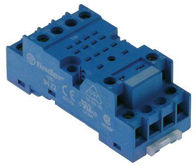 υποδοχή ρελέ 3-πόλοι διαστάσεις 68,5x30x26 mm 250V τάση AC  10A FINDER  αρ. κατασκευαστή 94.73