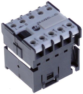 επαφή ωμικό φορτίο 16A 230VAC  (AC3/400V) 6,1A/2,2 kW κύριες επαφές 3NO