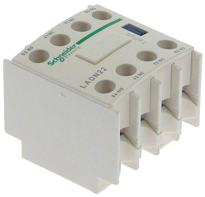 ρελέ επαφές 2NO/2NC  AC15 10A για επαφείς LC1D  σύνδεσμος βίδα τύπος LADN22