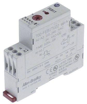 χρονικό ALLEN-BRADLEY  700-FEB1TU22  χρονικό εύρος 0,05s-10h  24VAC/DC-110-240VAC  5A